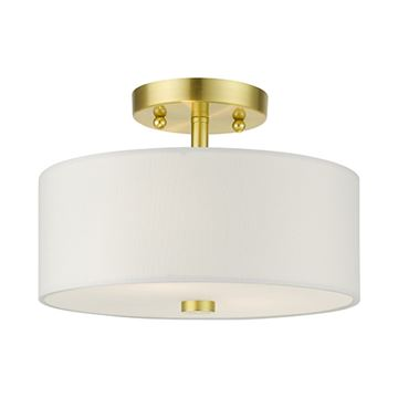 Livex Lighting Meridian 11 Inch Semi Flush Light