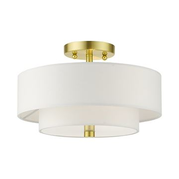 Livex Lighting Meridian 13 Inch Double Shade Semi Flush Light