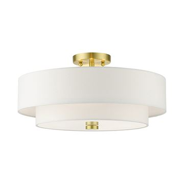 Livex Lighting Meridian 18 Inch Double Shade Semi Flush Light