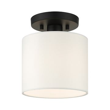 Livex Lighting Meridian 7 Inch Semi Flush Light