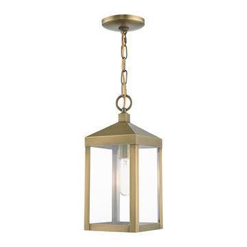 Livex Lighting Nyack 14 1/2 Inch Outdoor Pendant Lantern