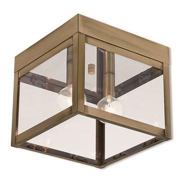 Livex Lighting Nyack 8 Inch Outdoor Ceiling Mount Light