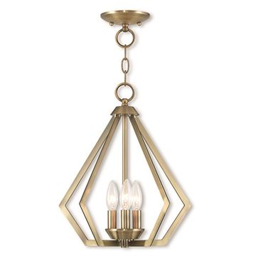 Livex Lighting Prism 14 Inch Mini Chandelier/Ceiling Light