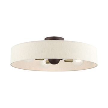Livex Lighting Venlo 22 Inch Oatmeal Semi Flush Light