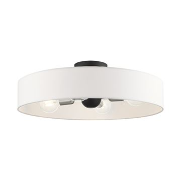 Livex Lighting Venlo 22 Inch Off White Semi Flush Light