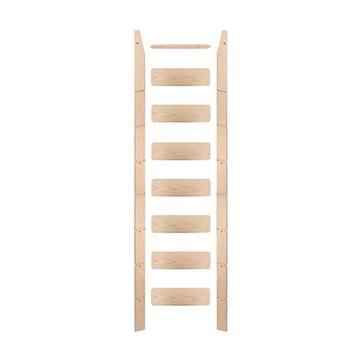 Quiet Glide Pre-Finished 16 Inch Unassembled Library Ladder