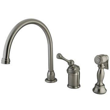 Restorers Buckingham KB381XBLBS-P Widespread Kitchen Faucet