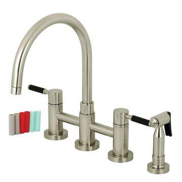 Restorers Concord KS827XDKLBS-P Bridge Kitchen Faucet