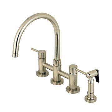 Restorers Concord KS827XDLBS-P Bridge Kitchen Faucet