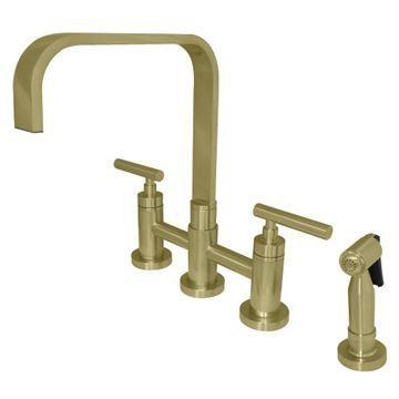 Restorers Manhattan KS825XCMLBS-P Bridge Kitchen Faucet