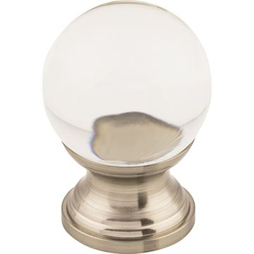 Top Knobs Clarity Clear Glass Knob