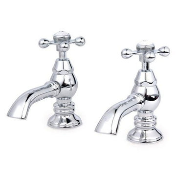 Restorers Lavatory Faucet With Metal Cross Handles