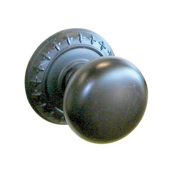 DK BZ HALF RD KNOB W/ROSE PASS 2 3/8 BACKSET *DS*