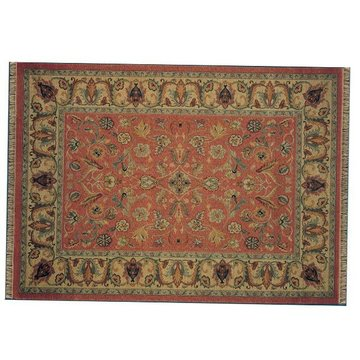 SALMON W/TAN 57X81 PATINA RUG  *DS*