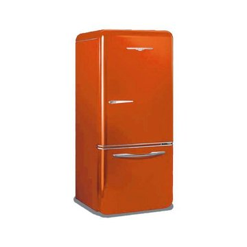 1950 ORANGE 19CU FT RETRO FRIDGE  *DS*PPD*