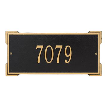 Whitehall Roanoke Personalized Address Plaque