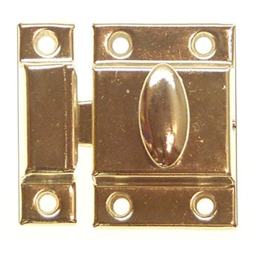 Restorers Classic 2 1/8 x 2 5/16 Stamped Steel Cabinet Latch