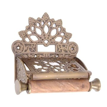 FRENCH COVERED TOILET PAPER HOLDER