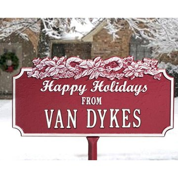 CANDY CANE PERSONALIZED HOLIDAY PLAQUE