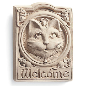 CAT WELCOME PLAQUE *DS*