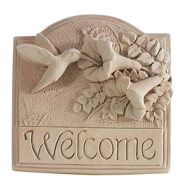 HUMMINGBIRD WELCOME PLAQUE  *DS*