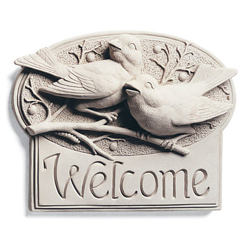 BERRYBIRDS WELCOME PLAQUE   *DS*