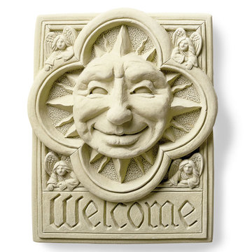 SUN W/ANGELS WELCOME PLAQUE        *DS*