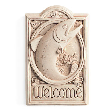 FLY FISHING WELCOME PLAQUE        *DS*