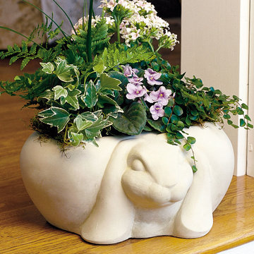 RABBIT BIRDBATH/PLANTER      *DS*