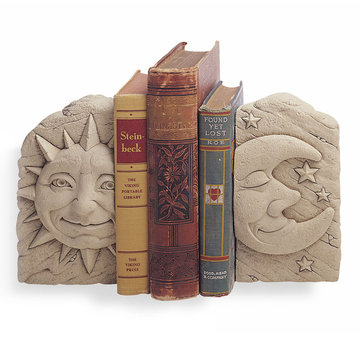 CELESTIAL BOOKENDS (PR) SUN & MOON   *DS*