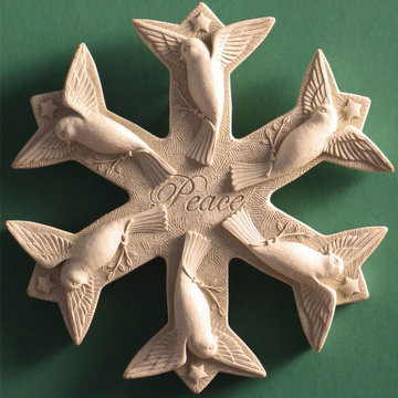 PEACE SNOWFLAKE PLAQUE/ STONE *DS*
