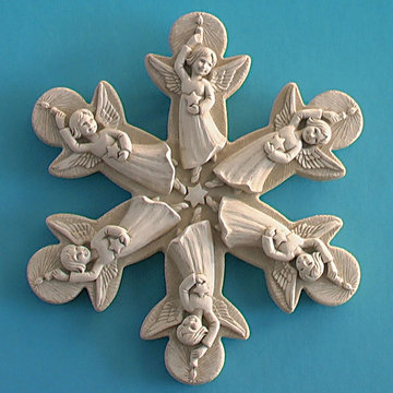 ANGEL SNOWFLAKE PLAQUE*DS