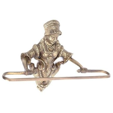 ANTQ BRASS VICTORIAN MAIDEN TOWEL HOLDER