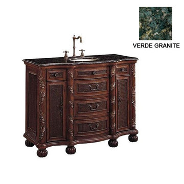 LRG SINGLE VANITY W/ MARBLE TOP  *DS*PPD*