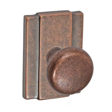 BORDEAUX SQUARE 2 3/8 PASSAGE DOOR KNOB SET