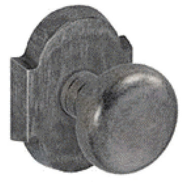 SM SCALLOP 2 3/8 PASSAGE DOOR KNOB SET