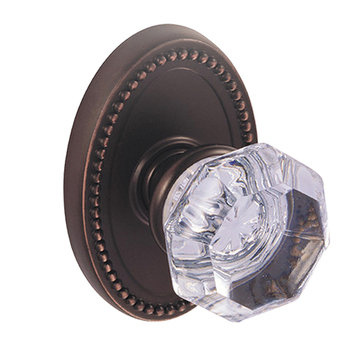 OVAL BEAD 2 3/8 PASSAGE DOOR SET WITH GLASS KNOB