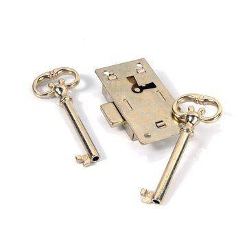 Restorers Classic Brass Plated Desk Lock & Key