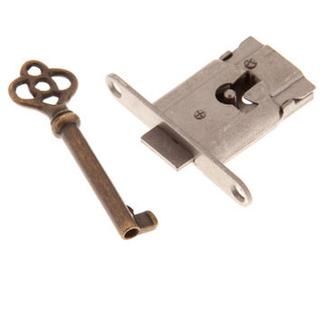 Restorers Classic Full-Mortise Steel Lock and Key