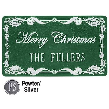 HOLLY PERSONALIZED HOLIDAY PLAQUE
