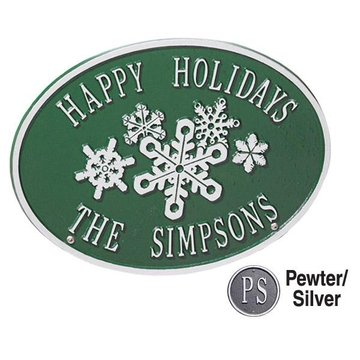 SNOWFLAKE PERSONALIZED HOLIDAY PLAQUE
