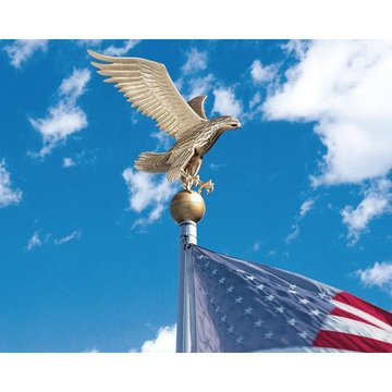 LARGE GOLD BRONZE EAGLE FLAGPOLE   *DS*