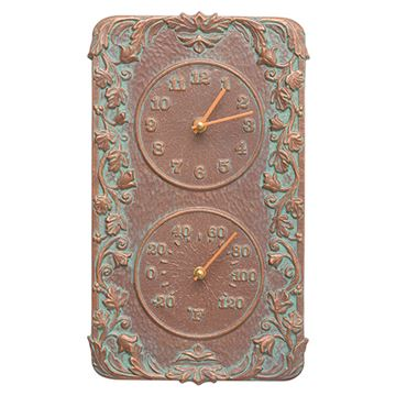 Whitehall Acanthus Combo Clock & Thermometer