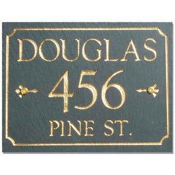 RECTANGULAR SLATE PERSONALIZED ADDRESS PLAQUE