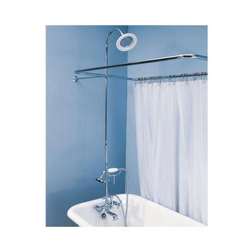 British Telephone Leg Tub Shower Enclosure Set
