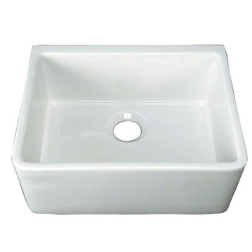 24 CENTER DRAIN FARMHOUSE FIRE CLAY SINK