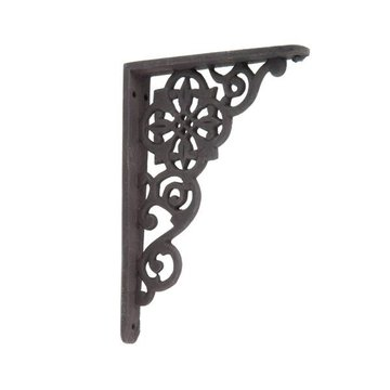 BLK POWD COATED IRON SHELF BRACKET