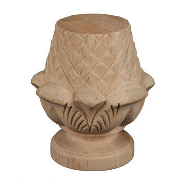 Legacy Artisan Pineapple Carved Bun Foot