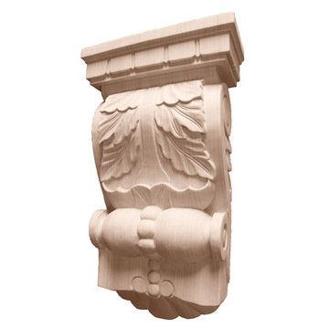 Legacy Artisan 13 1/4 Inch Leaf Corbel With Dentil And Bead