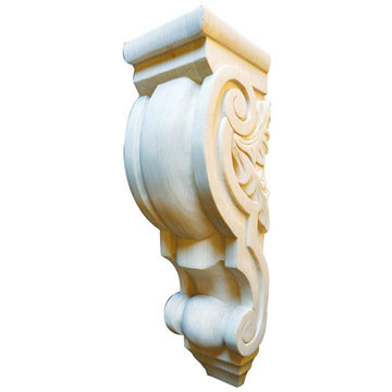Legacy Artisan 27 1/4 Inch Scroll Corbel With Leaf